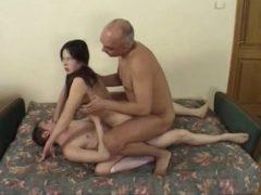 pai filho e filha
